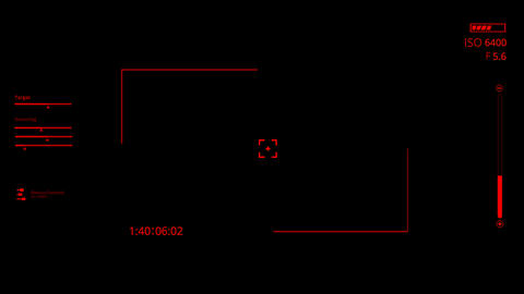 Red HUD Camera Interface Motion Graphic Element Animation