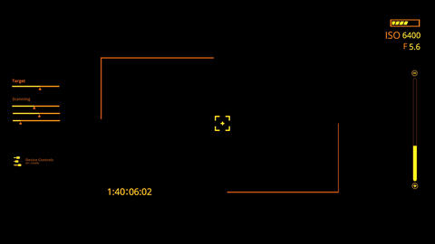 Orange HUD Camera Interface Motion Graphic Element Animation