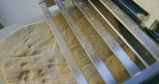 Dough Sheeter machine prepare dough 4k Live Action