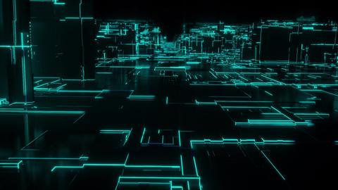 [alt video] Digital Network City Loop - Green