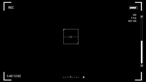 White HUD Camera Interface Motion Graphic Element V2 Animation
