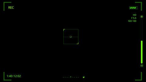 Green HUD Camera Interface Motion Graphic Element V2 Animation