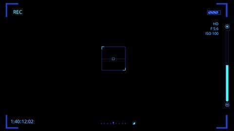 Blue HUD Camera Interface Motion Graphic Element V2 Animation