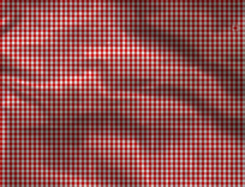 Red checkered tablecloth seamless with white squares Photo
