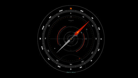 White Orange HUD Compass Interface Motion Graphic Element Animation