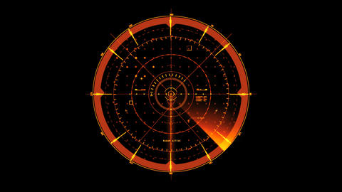 Orange HUD Radar Interface Motion Graphic Element Animation