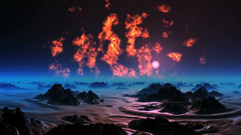 The Burning Sky of Alien Planet GIF