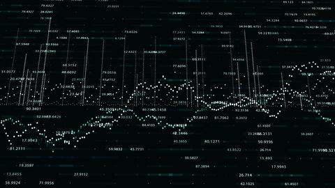 Abstract background with animation of growing charts Footage