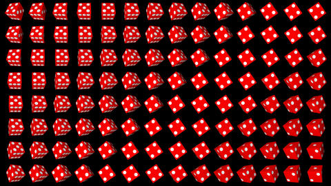 Red dice cubes casino gambling black background GIF