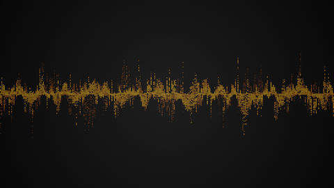 Abstract colorful audio wave on black background Footage