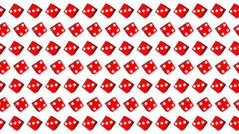 015 Red dice cubes casino gambling white background GIF