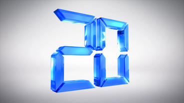 3D Glass Countdown Plantilla de After Effects