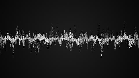Abstract white audio wave on black background Footage