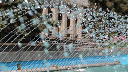 Splashes of water of a city fountain Footage