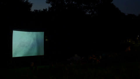 Night Open Air Projection Footage