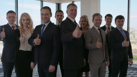 Business people showing thumb up Footage