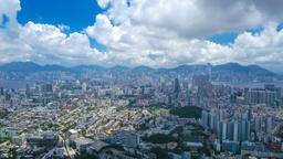 Aerial hyperlapse video of Hong Kong in daytime Footage