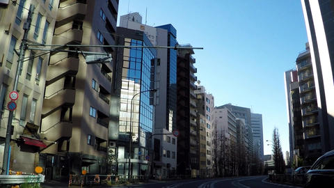 Road in Japan. Tokyo's main road, Meiji Avenue Footage