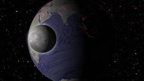 Revolving earth globe in space フォト