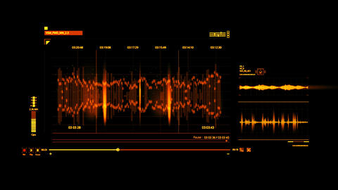 Orange HUD Voice Recording Interface Graphic Element Animation