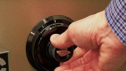4K Safe Combination Detail 3783 Footage