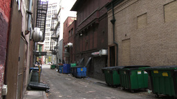 City Alley Backlot Background Plate Footage