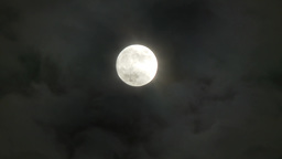4K Full Moon Timelapse with Clouds 3808 Footage