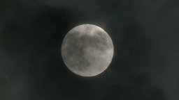 Full Moon with Clouds 3811 Footage