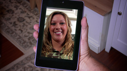 4K Video Chat on Tablet PC 3813 Footage