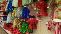 Christmas Decorations on Shelves 3817 Footage