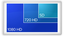 HD TV Resolutions SD to HD 3906 Footage
