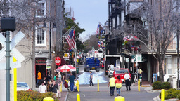 New Orleans French Quarter Tourists Activity 4070 Footage