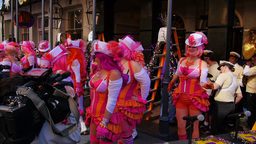 Dancers on Stage at the Greasing of the Poles Festival 4083 Footage