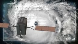 Hurricane Satellite Analyze 4131 Footage