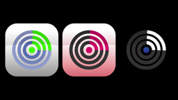 4K Radar App Icons 4167 Footage