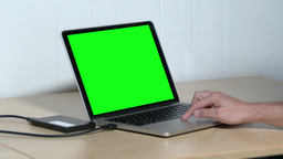 4K Green Screen Laptop External Hard Drive 4199 stock footage