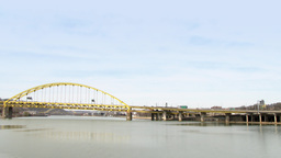 4K Fort Pitt Bridge 4204 Footage