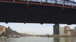 4K Smithfield Street Bridge in Pittsburgh 4206 Footage