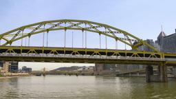 4K Fort Duquesne Bridge 4242 Footage