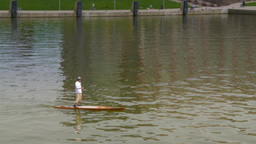 4K Stand Up Paddle Boarder in Pittsburgh 4244 Footage