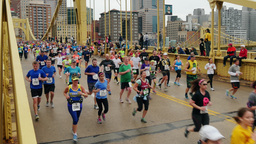 4K Pittsburgh Marathon Runners 4270 Footage