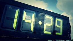 4K Marathon Race Clock 4343 Footage