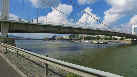 Elisabeth Bridge Budapest Erzsebet hid Hungary Danube River Duna Live Action