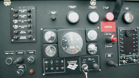Analogue Dashboard Control Panel Footage