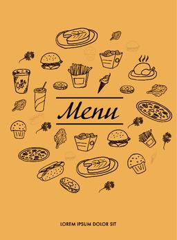Menu design for restaurants Vector
