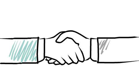 握手 CG動画