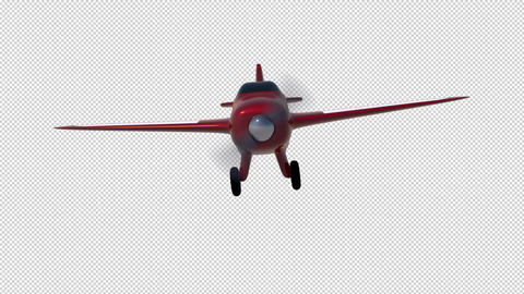 Cartoon Aeroplane CG動画素材