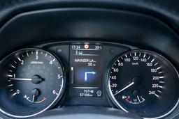 Frankfurt / Germany - August 02 2018: Car showing temperature in the city during Photo