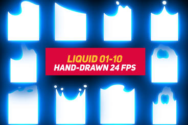 Liquid Elements 3 Liquid 01-10 After Effects Template
