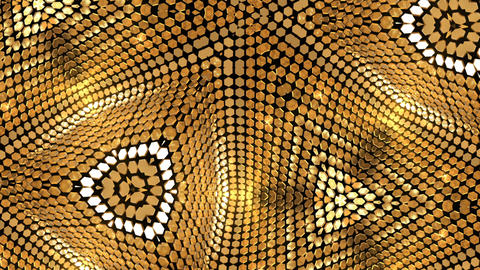 Background Golden Shimmer Kaleidoscope Abstract CG動画素材